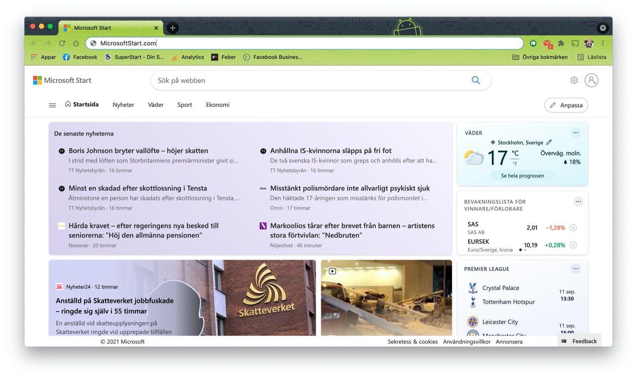 Microsoft lanserar Microsoft Start