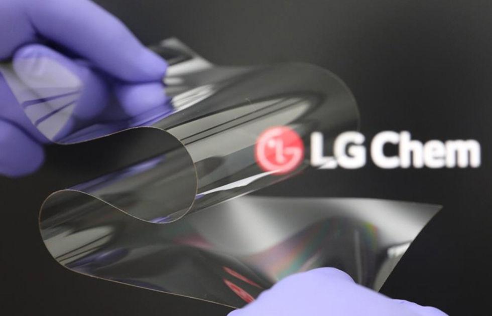 Nytt skärmmaterial från LG ska motverka veck