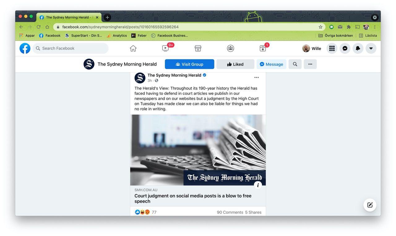Företag hålls ansvariga för kommentarer på Facebookinlägg