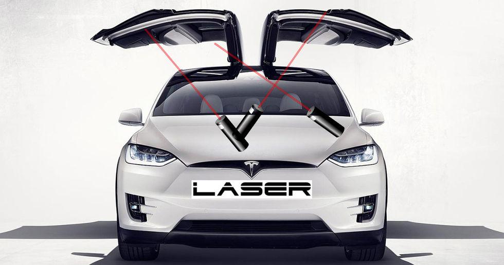 Teslas patent på laser-vindrutetorkare blir godkänt