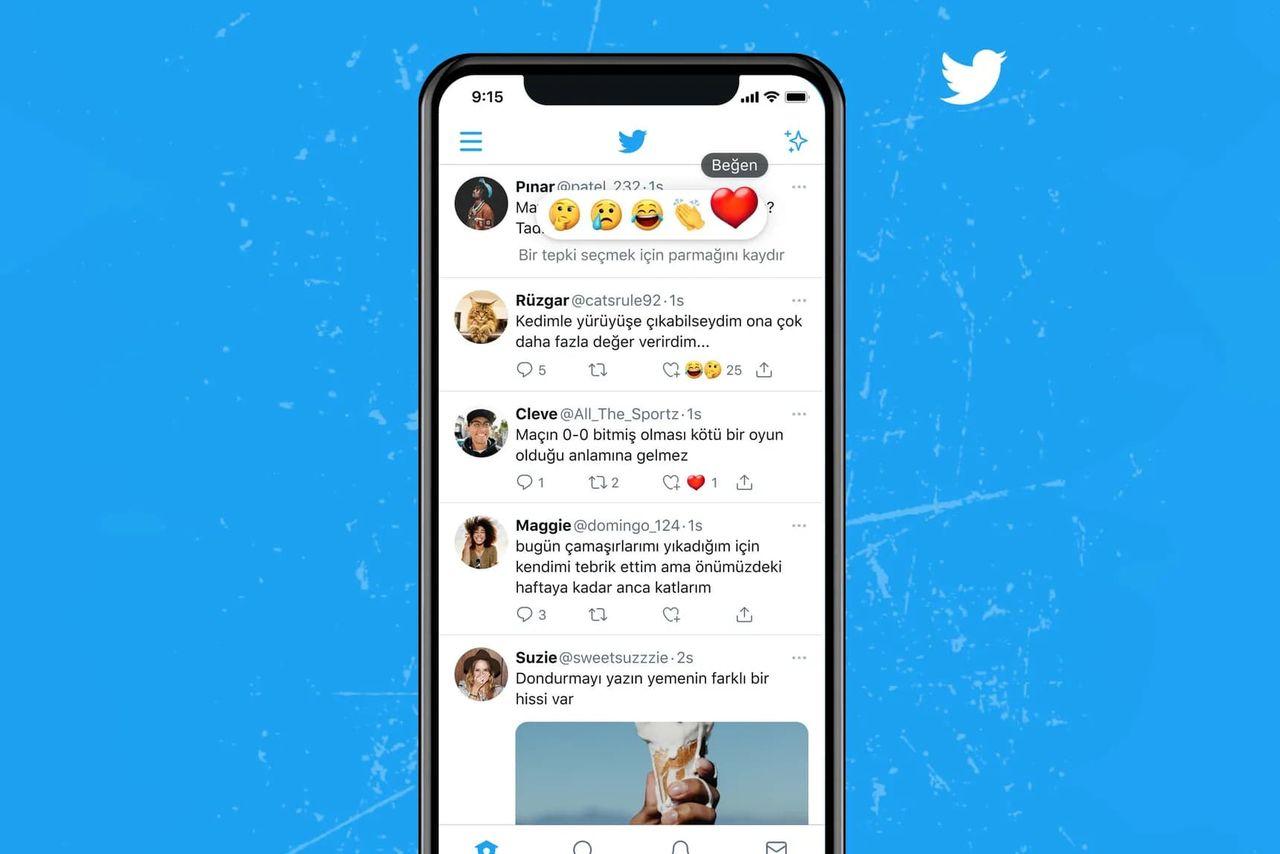 Twitter börjar testa emoji-reaktioner