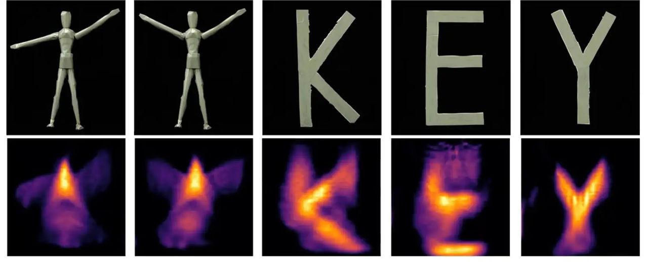 En laser riktad mot ett nyckelhål kan se objekt i rum