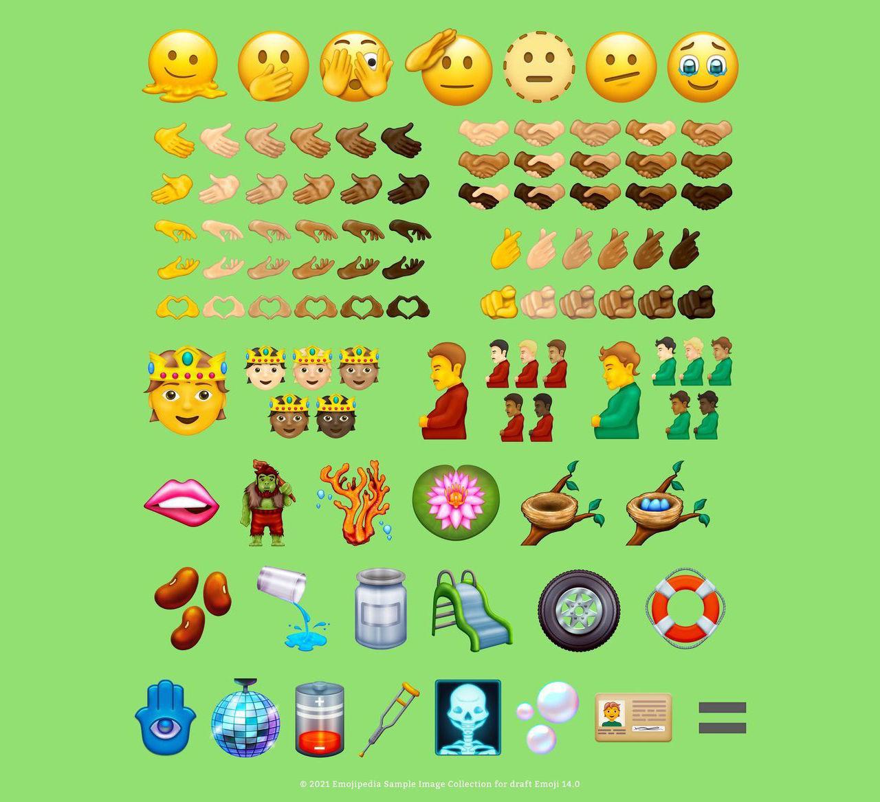 37 nya emojis på ingång