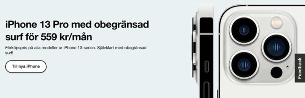 Det här är operatörernas iPhone 13-erbjudanden