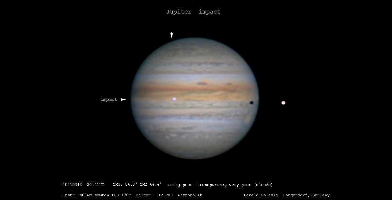 Något stort slog ner på Jupiter förra veckan
