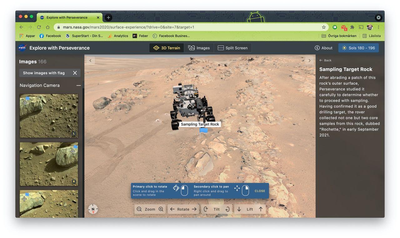 Utforska Mars med ny simulator från NASA