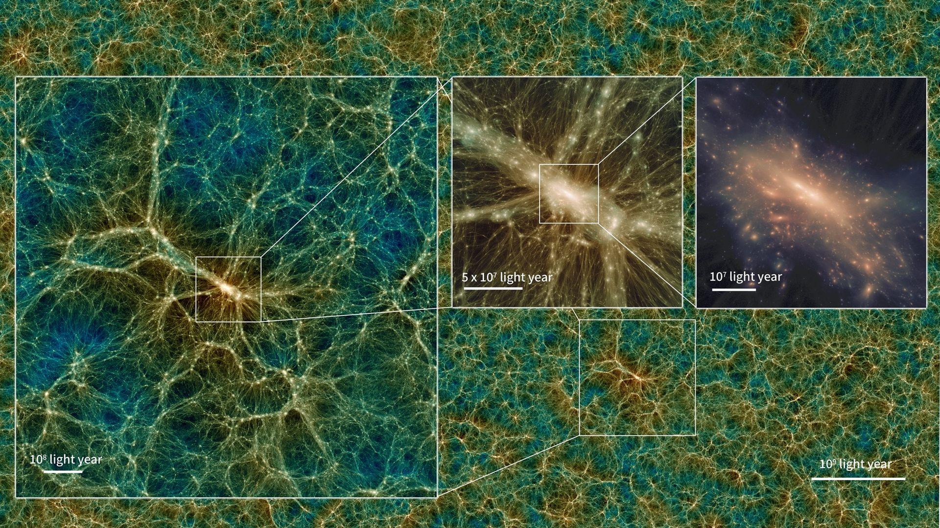 Uchuu är världens största digitala modell av universum
