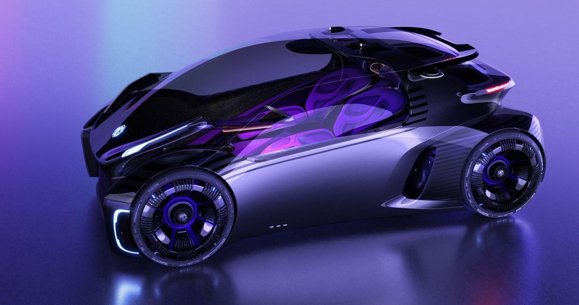 MG visar eldrivna konceptbilen Maze