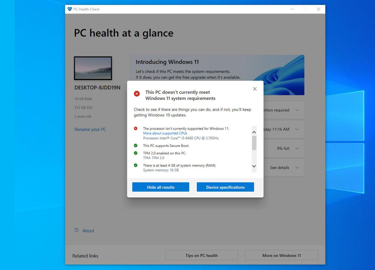 Microsoft släpper ny version av PC Health Check