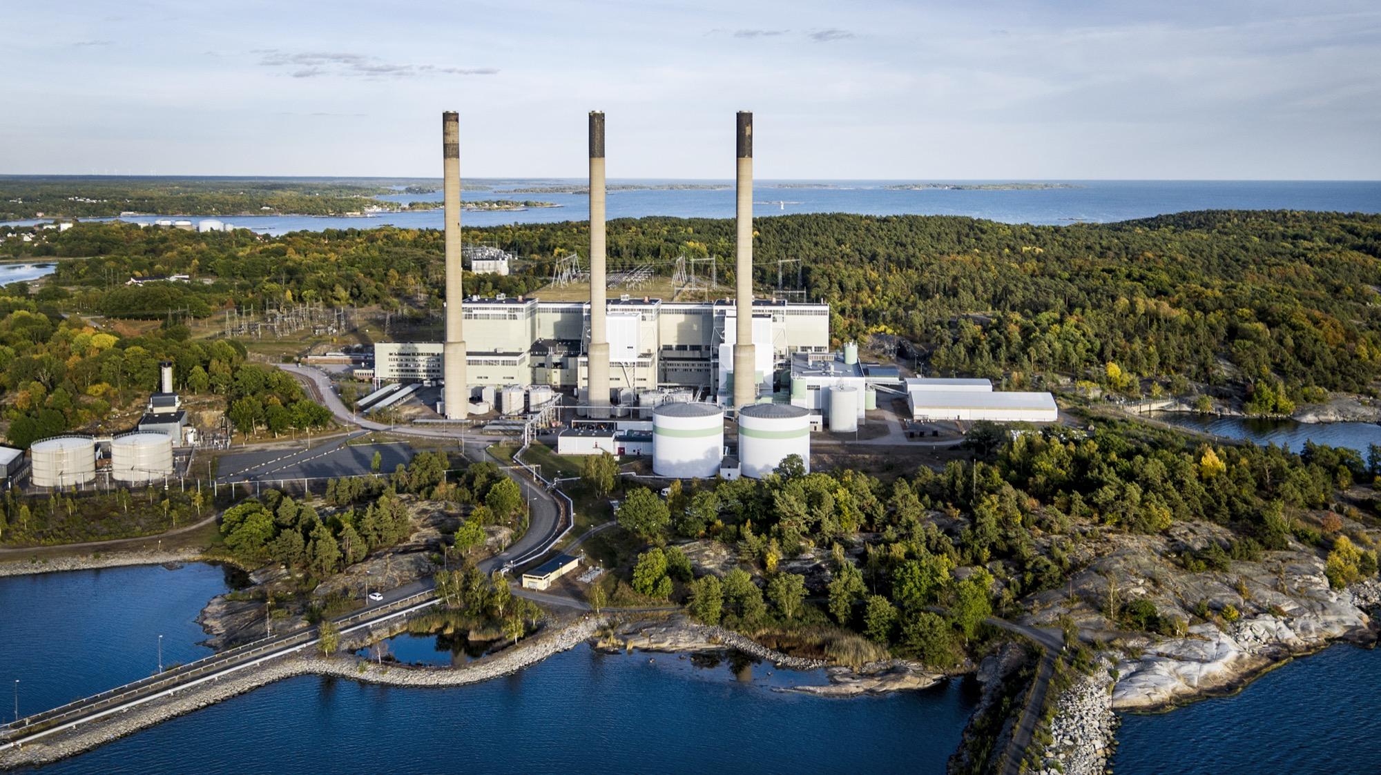 Oljeverket i Karlshamn körs för fullt På grund av elbrist i Södra Sverige