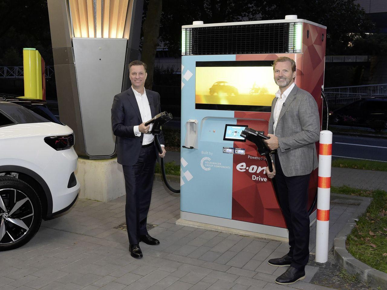 Första snabbladdaren från E.ON och Volkswagen invigd