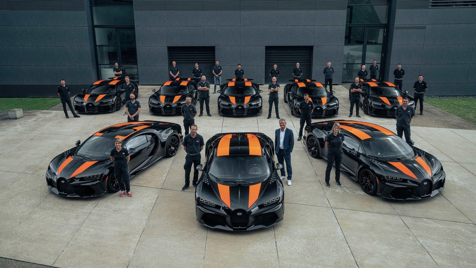 Bugatti har byggt de första åtta Chiron Super Sport 300+