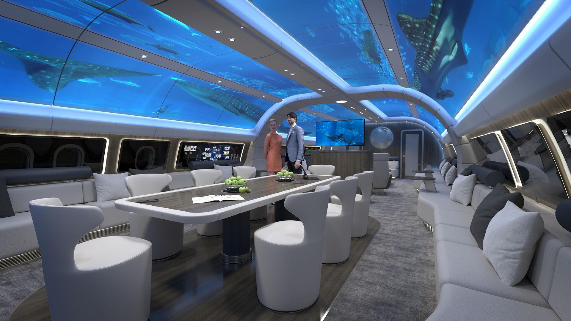 Lufthansa visar upp koncept på superlyxig flygplanskabin