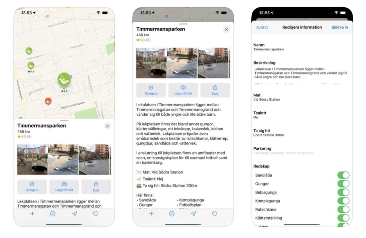 Hitta lekplatsen med hjälp av appen Playway
