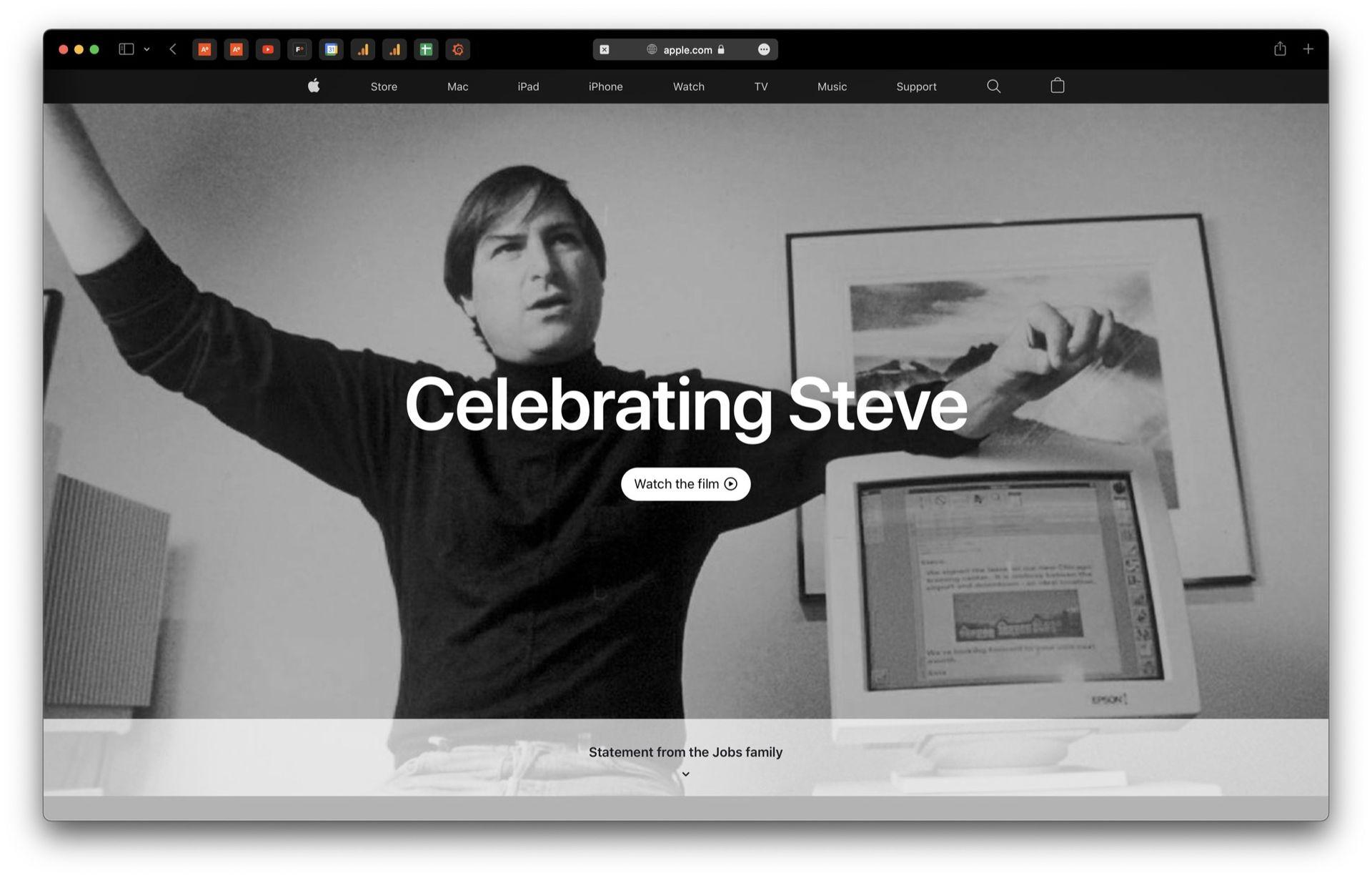 Tio år sedan Steve Jobs dog i dag