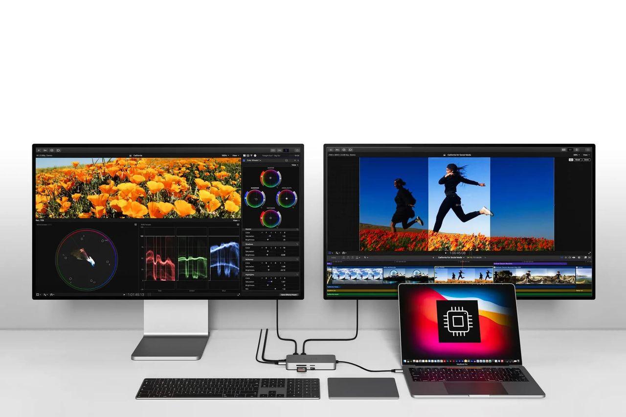 Hypers USB-C-hubbar kan driva två skärmar till M1-Macbooks