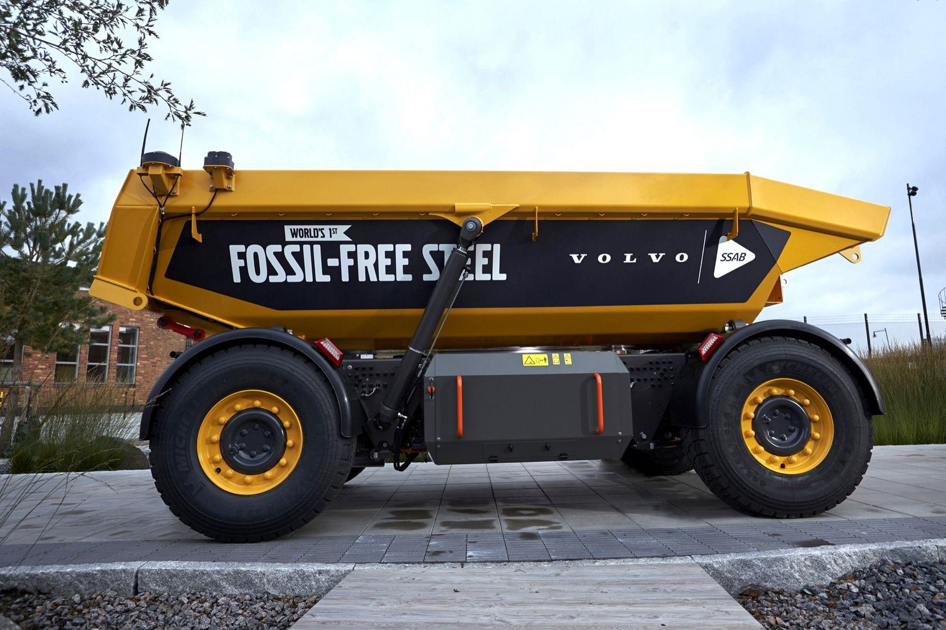 Volvo lanserar världens första fordon tillverkat av fossilfritt stål