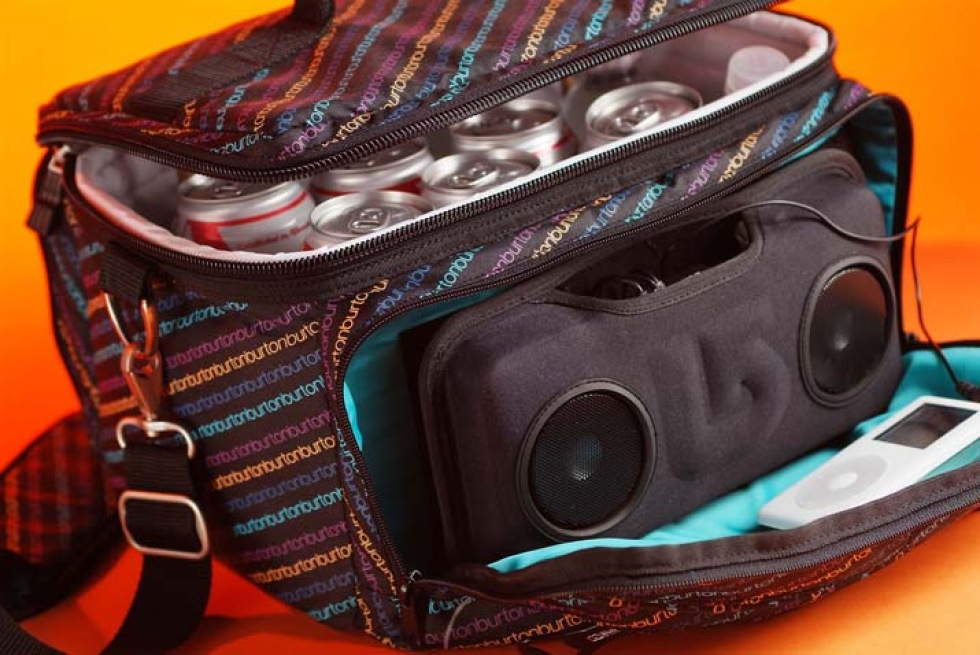 Picknick-väska med inbyggda högtalare