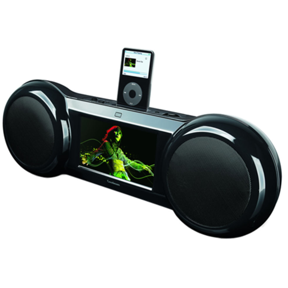 Boombox till iPod med inbyggd skärm