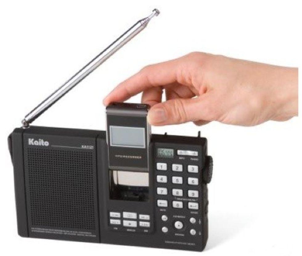 Radio med inbyggd mp3-spelare
