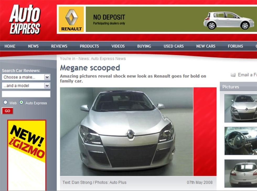 Spionbilder: Renault Megane