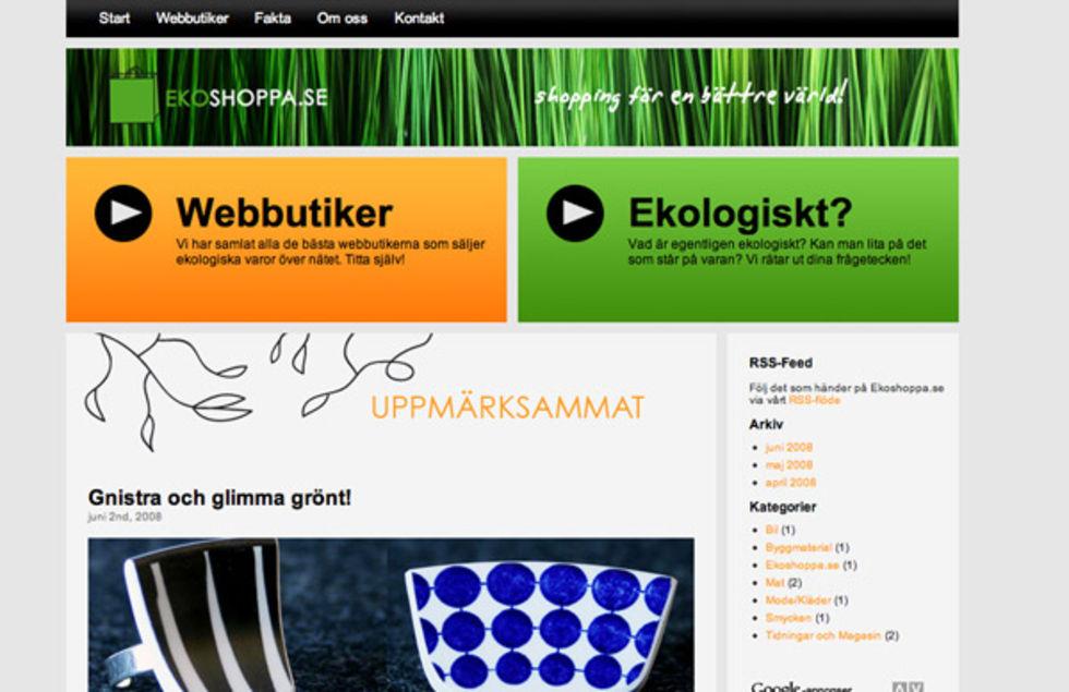 Ekoshoppa.se guidar medvetna konsumenter