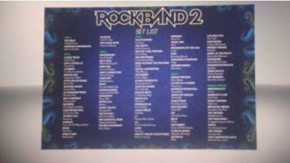 Hela låtlistan för Rock Band 2