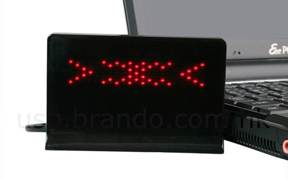 Animerad lysdiods-skylt till skrivbordet