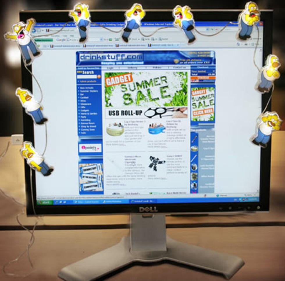 Homer-belysning till din skärm