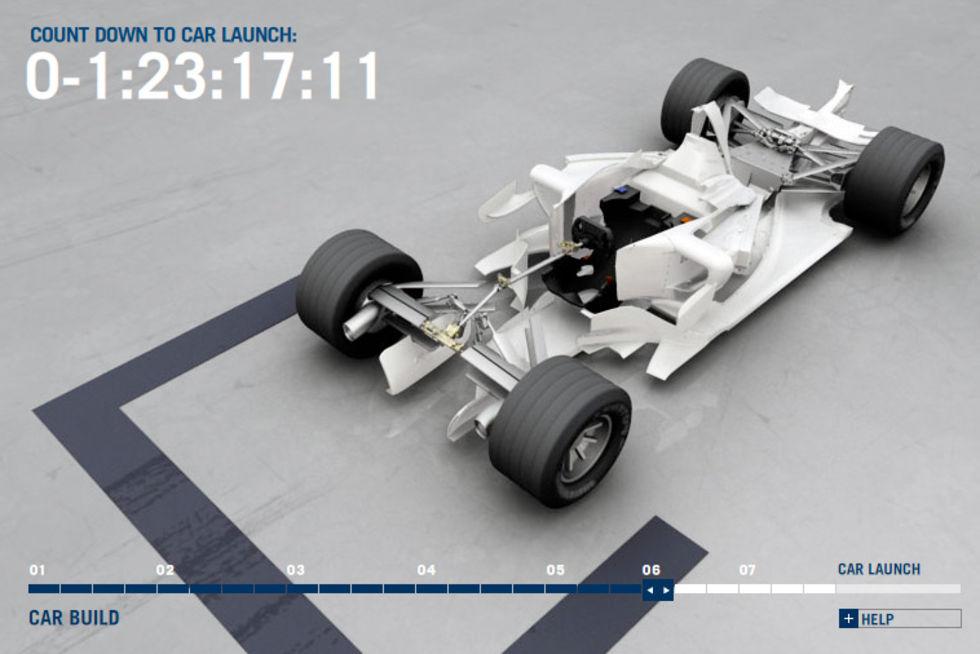 En F1-bil föds