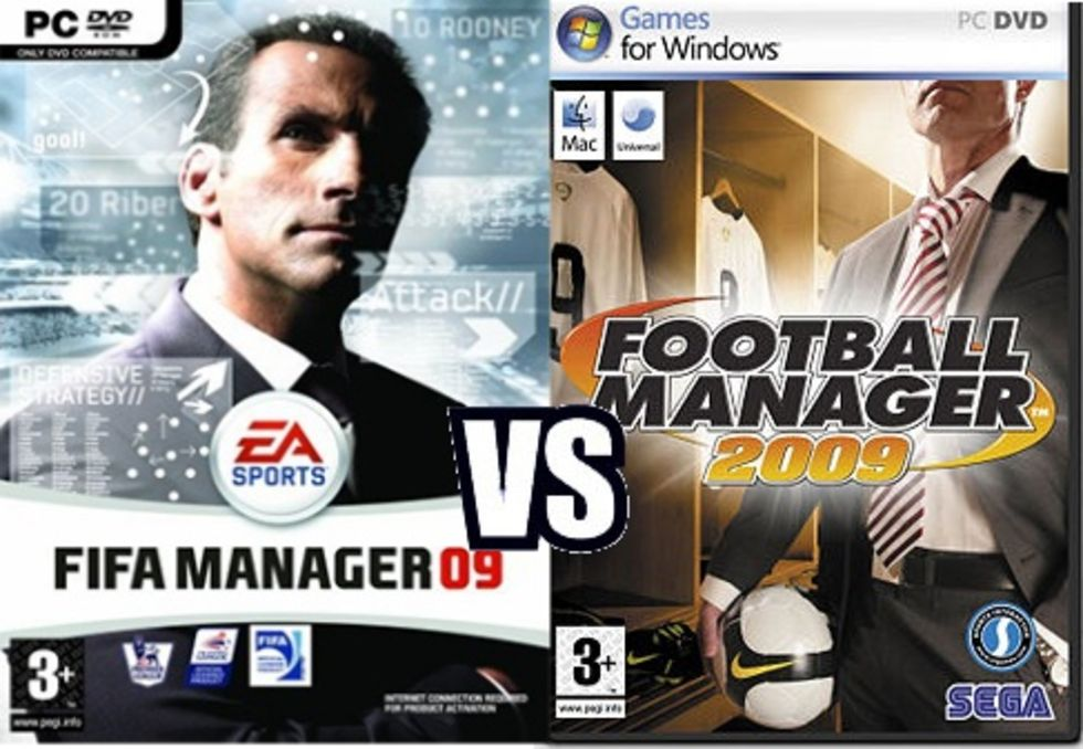 FIFA Manager 09 Vs. Football Manager 2009