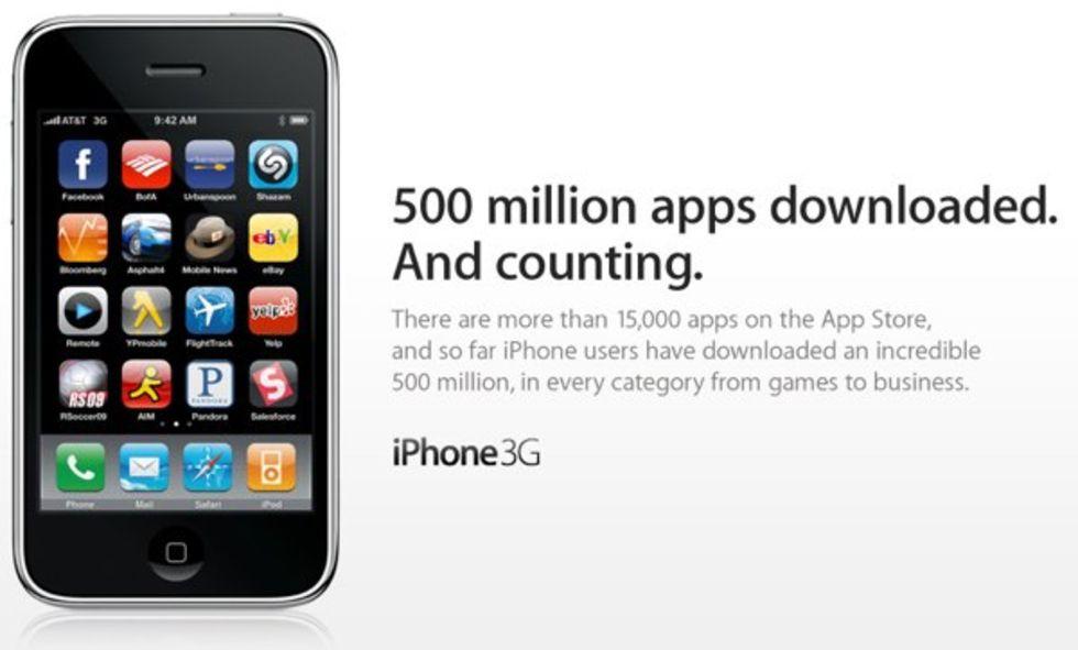 500 miljoner appar nedladdade från App Store