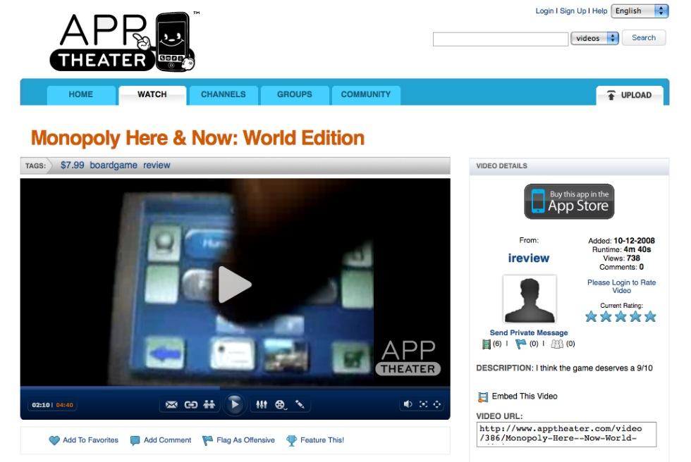 Videorecensioner av iPhone-appar
