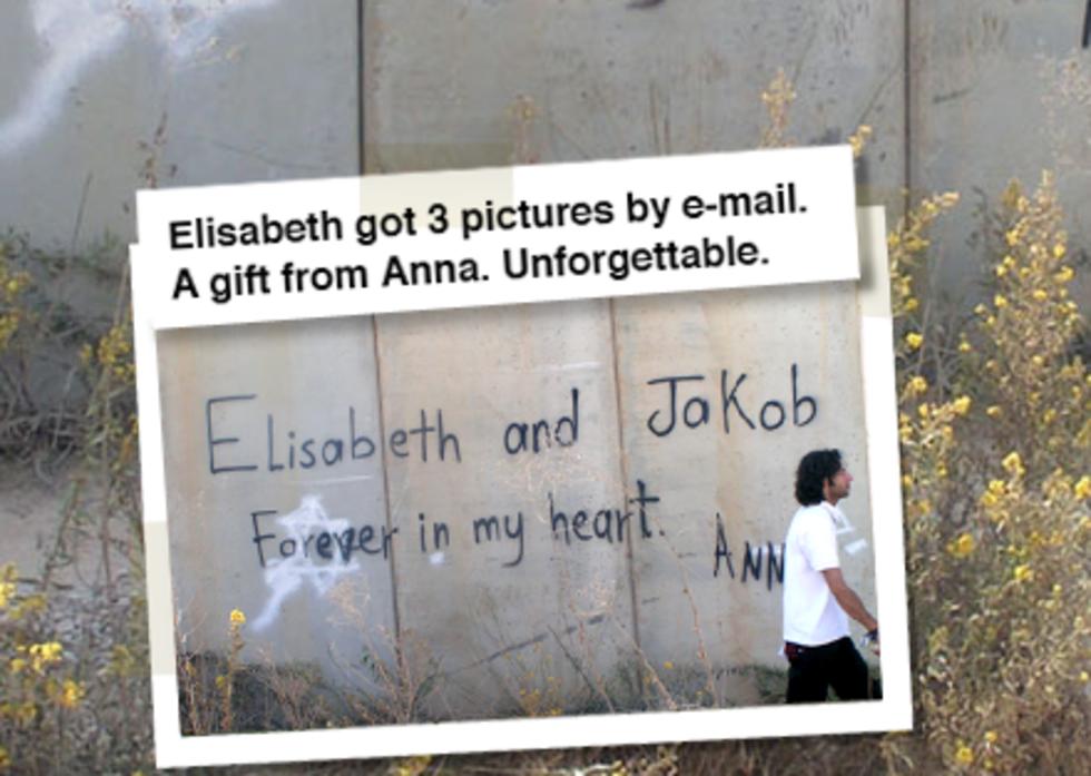 Spraymåla på palestina-muren