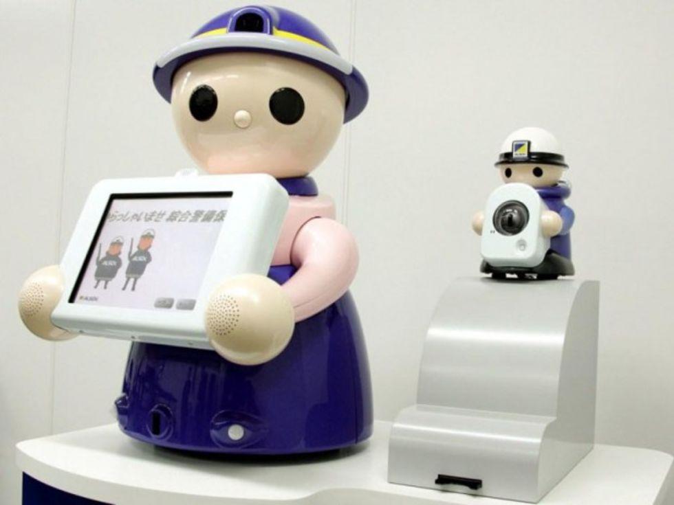 Söt receptionist-robot